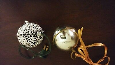 Vintage Reuge Silent Night Christmas Ornament Music Ball And Chirping Ball