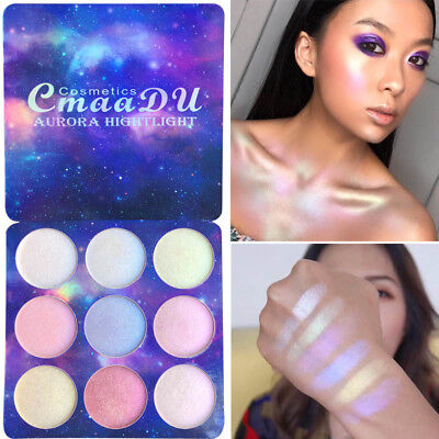 9 Colors/Box Eyeshadow Palette Chameleon Pearl Highlighter Eye Makeup Cosmetics