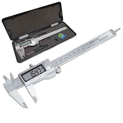 "6"" Digital Electronic Caliper Fractional 3 Way LCD Stainless (150mm)"