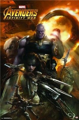 AVENGERS INFINITY WAR - 2019 MOVIE POSTER 36''x24'' inch 12