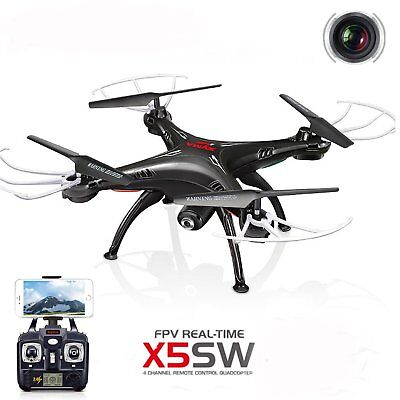Syma X5SW Wifi FPV Explorers 2.4G 4CH RC Quadcopter Drone HD Camera UFO Black FB
