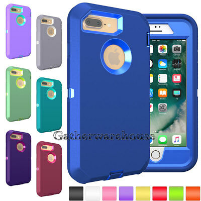 For iPhone 6/ 6s/ 7/ 8 Plus Phone Case Hybrid Heavy Duty Shockproof Rubber Cover