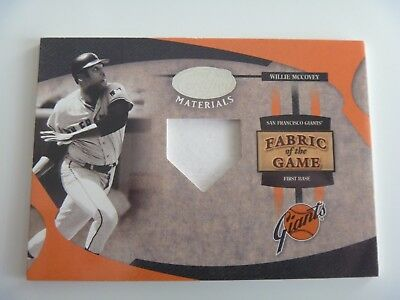 2005 Leaf Fabric of The Game 1/1 Pre-Production Proof SAMPLE Willie McCovey SF