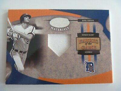 2005 Leaf Fabric of The Game 1/1 Pre-Production Proof SAMPLE Kirk Gibson DETROIT