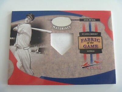 2005 Leaf Fabric of The Game 1/1 Pre-Production Proof SAMPLE Stan Musial STL