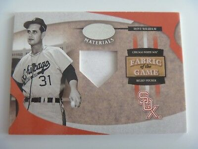2005 Leaf Fabric of The Game 1/1 Pre-Production Proof SAMPLE Hoyt Wilhelm SOX