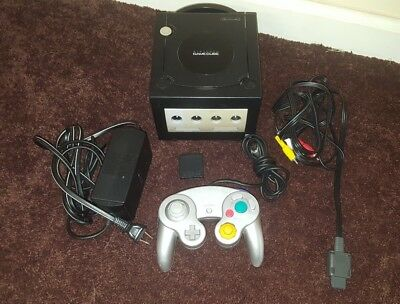 Nintendo GameCube Console Black DOL-001 Memory Controller Noreserve $.99
