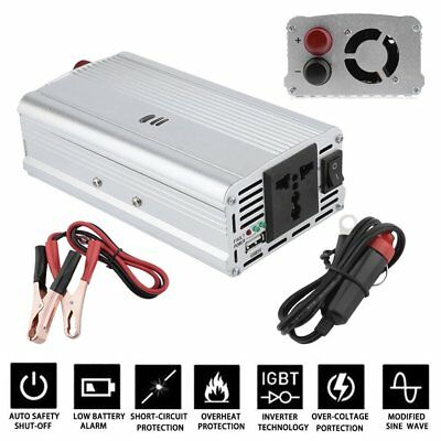 12V DC TO 110V AC 2000W Car Power Inverter Converter USB Charger Adaptor US BT