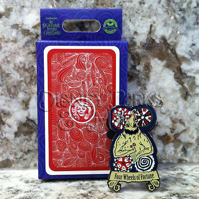 Disney Haunted Mansion Nightmare Before Christmas Tarot Four Wheels Oogie Pin