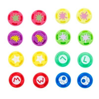 4xController Silicone Thumbstick Button Cover Caps Grips for PS4 Switch Xbox One