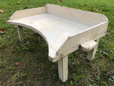 Antique Primitive Hand Made Wood Portable Lap Table Writing Desk Butler Vintage