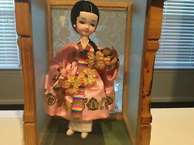 "8"" Korean Barbie/wedding Doll Traditional Charming Wedding Bride With Case"