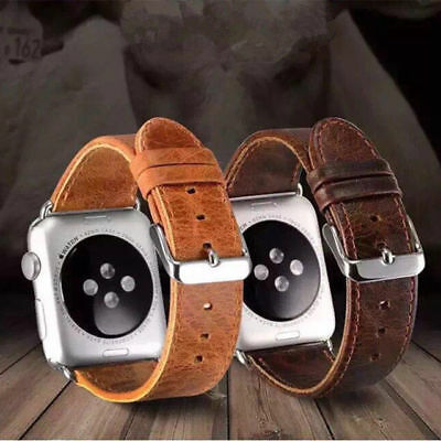 Genuine Leather iWatch Band Wrist Strap Belt for Apple Watch Series 5/4/3/2/1
