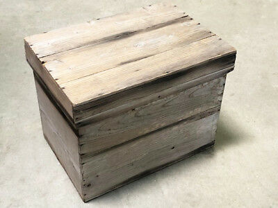 Antique Tea Crate with Galvanized Metal Liner