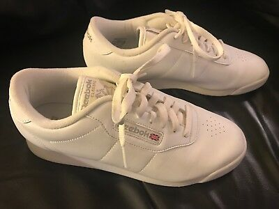 48f05a589c6e Reebok Classic Sneakers Womens Size 8 White Lace Up Athletic Tennis Shoes  Casual