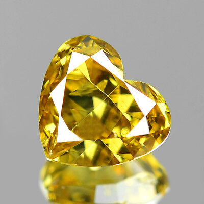 Fancy Yellow Diamond Heart 0.34 cts Untreated Color Diamond Natural F770 NR