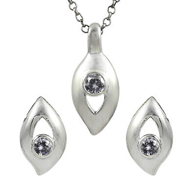 Wedding Jewelry Set Natural Iolite Cubic Zirconia Gemstone 925 Sterling Silver