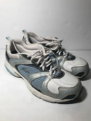 fca9f89fc6b Easy Spirit Womens size 7.5 Anti White blue Walking Running Sneakers Shoes