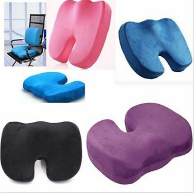 Memory Foam Orthopedic Cushion Coccyx Pillow U Office Chair Seat Pain Ease Color