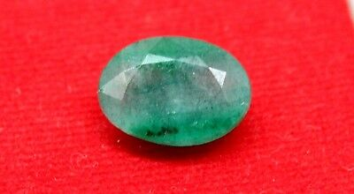 Ggl Certified 5.30Ct Natural Oval Cut Vivid Green Emerald Panna Gemstone