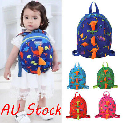 1xCartoon Baby Toddler Kids Dinosaur Safety Harness Strap Bag Backpack Reins AU