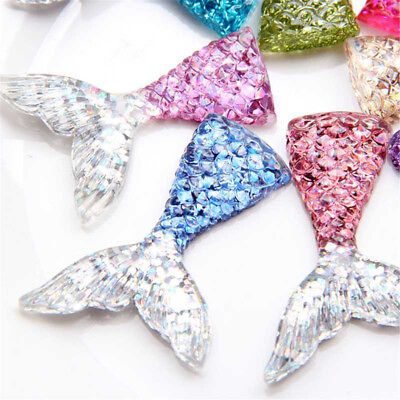 10Pcs Mixed Slime Charms Mermaid Accessories for Tail Phone Keychain DIY Decor