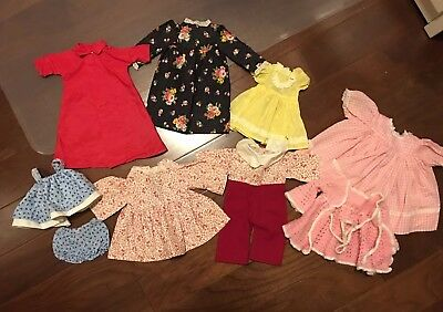 Old Vintage Doll Clothes Lot 1950s including Mary Jane Rain Coat