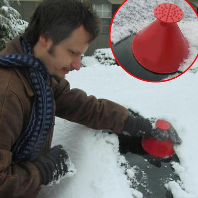 1x Car Windshield Ice Scraper Tool Cone Shaped Outdoor Round Funnel Remover Snow