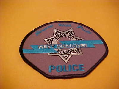 West Wendover Nevada  Police Patch Shoulder Unused Type 3