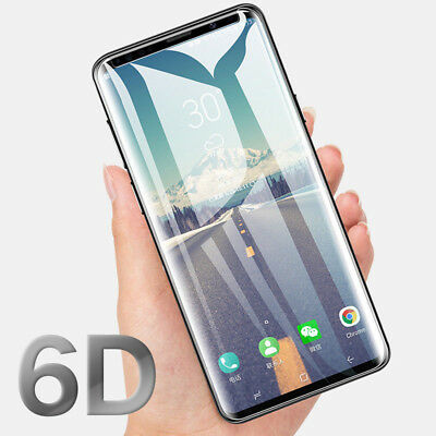 6D Tempered Glass For Samsung Galaxy S9 S8 Plus Note 9 Screen Protector Film X2
