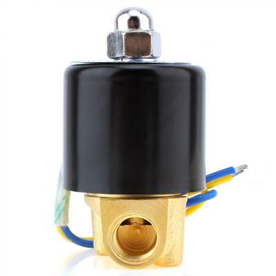 DC 12V 0.16 Inch Brass Electric Solenoid Valve NPT Gas Water Air Normally Closed