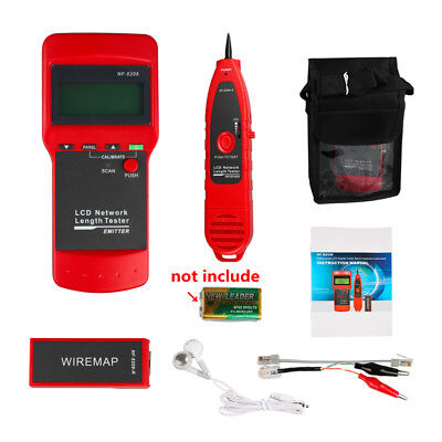 NF8208 Network LAN Cable Tester Wire Tracker Tracer Length Scanner Tool RJ45