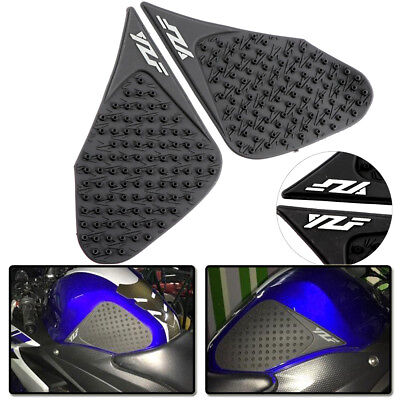 Tank Traction Side Pad Gas Fuel Knee Grip Decals Fit Yamaha YZF R25 R3 13-17