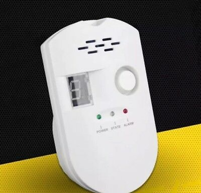 Digital Gas Leak Detector Propane Butane Methane Natural Gas Safe Alarm Sensor