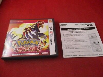 Pokemon Omega Ruby Nintendo 3DS Empty Case ONLY (no manual or game) #D1