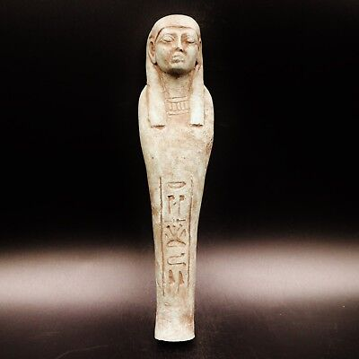 Amazig Ancient Egyptian Terracotta Ushabti Figure,18th dynasty 1550 BC, 20cm