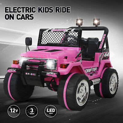 Ride On Car Kids Jeep 12V Electric Powered Battery Remote Control MP3 LED Light