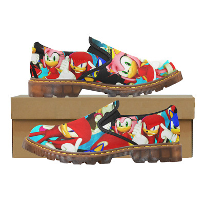 Custom Comfy Ladies Casual Flats Womens Slip On Loafer Sonic The Hedgehog Shoes