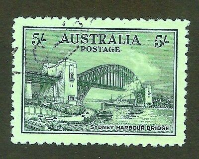 1932 *VFU* 5s Sydney Harbour Bridge *SUPERB CENTERING*  Rare Stamp