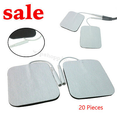 """20 * Replacement Pad for Massagers / Tens Units electrode pads 2 x 2"""" Patch Sale"""
