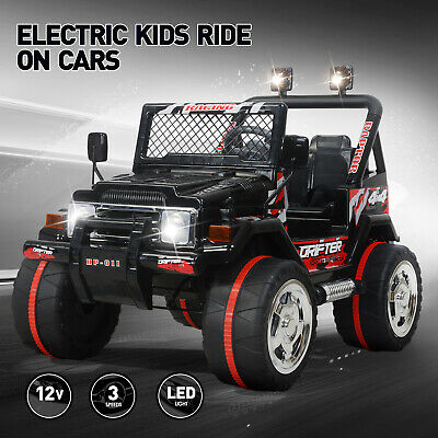 12V Electric Ride On Car Kids Jeep Power Toy 3 Speed Remote Control Music Player