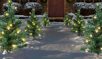 6PC Christmas Tree LED Path Lights | Outdoor Garden Lawn Decoration