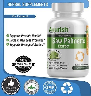 Saw Palmetto Extract 120 Capsule 500 mg  Potent Prostate Support