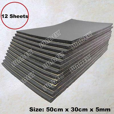 12 Sheets Car Sound Proofing Deadening Van Boat Insulation Closed Cell Foam 5mm