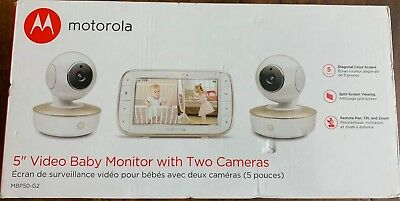 """Motorola 5"""" Video Baby Monitor with Two Cameras - MBP50-G2"""