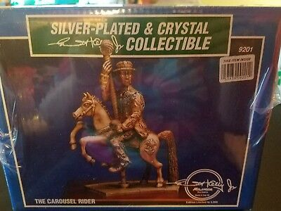 Emmett Kelly Jr. The Carousel Rider Silver Plated & Crystal Collectible Sealed #