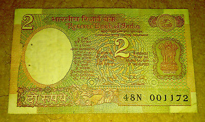 Rare India 2 Rupee Note Coin 1985 Paisa Antique Vintage Old album collection