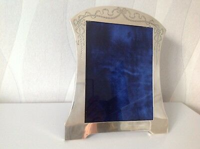 Large 27cm Art Nouveau 1908 Antique English Sterling Silver Picture Photo Frame