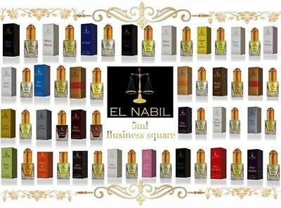El Nabil 5ml Véritable Attar Parfum Sans Alcool Musk Oud Roll on Haute Qualité