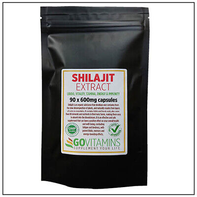 BEST SELLING Authentic SHILAJEET Extract 600mg Capsules For LIBIDO AND ENERGY